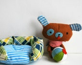 Bitty Bow Wow Dog Doll Set with Play Accessories - Plush Stuffed Animal - Miniature - Puppy - Kawaii - Pretend - Kids Gift - Heirloom