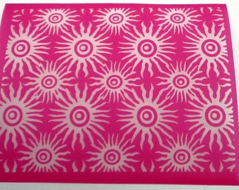 Sea Urchin Silkscreen for Polymer clay, Paper Crafts, painted patterns on smooth surfaces