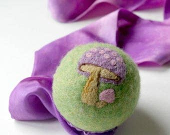 Waldorf Inspired Comet Ball: Fantasy Toadstool (All Natural Wool and Silk Toy)