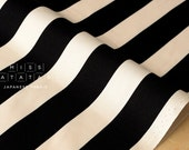 Japanese Fabric stripes canvas - black - 50cm
