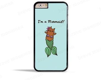 Samsung Galaxy S7 Case Mermaid iPhone 7 Case Cute iPhone 6s Case Merkitty Mermaid Cat Galaxy Note 5