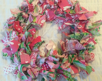 Lilly Pulitzer Nursery Decor / Lilly Pulitzer College Dorm Decor / Lilly Pulitzer Girls Room / Lilly Pulitzer Party Decor/Shabby Chic Wreath
