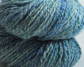 Blue Horizons -- Handspun, Hand dyed, Bamboo, Merino, 4.4 oz/125 gr, 175 yds/160 m