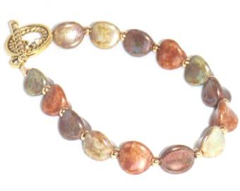 Multocolored Czech Glass Beads Bracelet