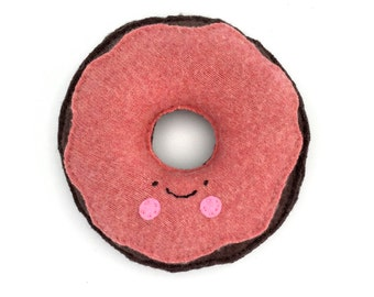 Happy Donut - Recycled Wool and Cashmere Sweater Plush Toy