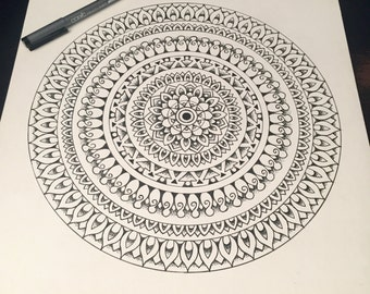 New Original Intricate Mandala Drawing -