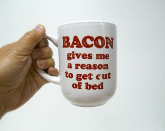 Bacon stoneware morning mug