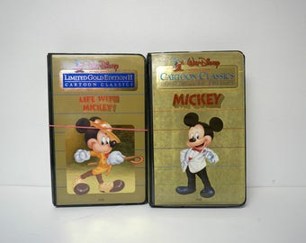 Walt Disney Limited Gold Edition Cartoon Classics . Mickey (1984) and Life with Mickey (1985) . 2 VHS