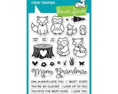 Lawn Fawn Clear Photopolymer Rubber Stamp set- mom and me
