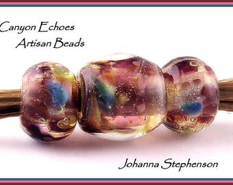 BIG HOLE BEADS Encased Jewels Lampwork Beads