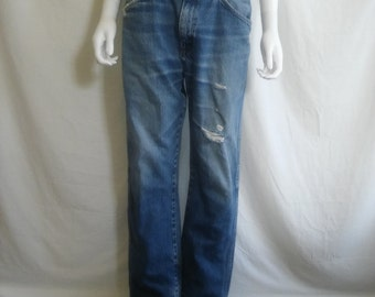 Rustler Jeans distressed thrashed W 32 Waist   80s 90s