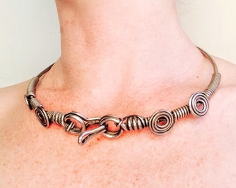Silver Rabari Torque Tribal Choker Necklace