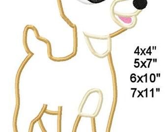Christmas Reindeer Girl Clara Machine Embroidery Applique Pattern Design 4x4 5x7 6x10 7x11 INSTANT DOWNLOAD