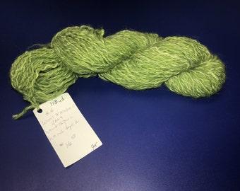 Wool Mohair Llama Handdyed Handspun - 113yd / 2.6oz (Lime Green)