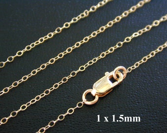 ANY LENGTH, 14k Gold Filled Finished Cable Chain - Custom Lengths Available