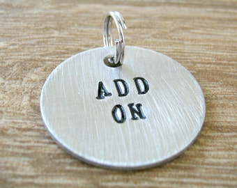 """1"""" Alkeme Disc Add On for keychains or necklaces, read listing for specs, hand stamped disc measures 1 inch, we stamp the front side only"""
