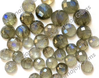 Gemstone Cabochon Labradorite Checkerboard 10mm FOR ONE