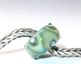 Luccicare Lampwork Bead - Fantasia -  Lined with Sterling Silver
