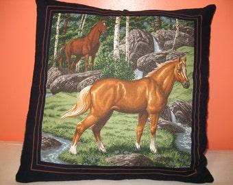 Horse Pillow Sham Pillowcase or Pillow Cover Ready to ship