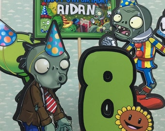 PLANTS vs ZOMBIES Centerpiece Set of 5 with custom text