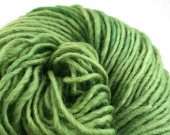 Brunswick Hand Dyed chunky weight 70/30 Corriedale wool Mohair blend yarn 140 yds 4oz Grassland