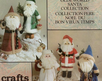 Simplicity 7598 Old World Santas Uncut Pattern