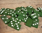 24 Vintage Green Catalin Dominoes Bakelite  Lucite