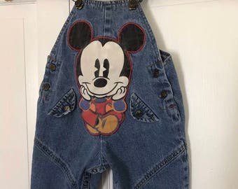 Baby Mickey and Co Mickey Mouse Denim Overalls Size 12 Months Disney