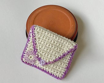 Lilac purse  - for cards, money, mp3, store cards, makeup, coins