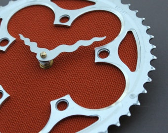 Bicycle Gear Clock - Rust | Bike Clock | Wall Clock | Recycled Bike Parts Clock