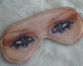 Freak Them Out Sleep Mask MASCARA * FreakyOldWoman FOW blindfold evil eyes crying cry smeared tears blue eyes