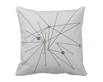 "Atomic Lines Throw Pillow 16""x16"" or 20""x20"" Square Polyester or Cotton Your Choice with Free Shipping"