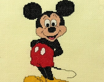 Finished Walt Disney Mickey Mouse Counted Cross Stitch