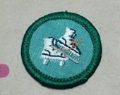 Vintage Girl Scout Merit Badge/Patch SKATER