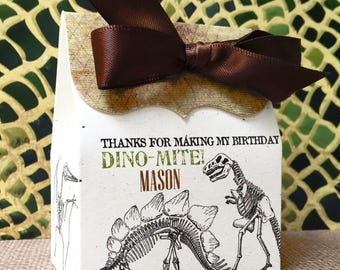 Dinosaur Dig Birthday party,Dinosaur Excavation,Favor boxes,Dinosaur Fossils, Dinosaur Bones, Treat boxes,Dinosaur Favors, party decorations