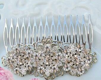 wedding hair accessories decorative comb Bridal hair clip wedding comb crystal silver rhinestone wedding hair clip