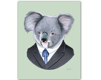 Koala art print 8x10