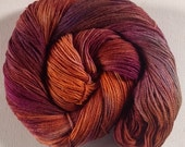 Silky sock hand dyed 4ply yarn Plumish 390 yds approx