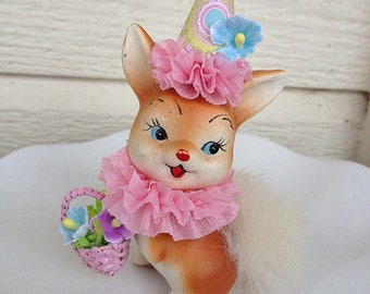 Easter Decoration Vintage Enesco Bunny Rabbit Figurine Easter Ornament forEaster Party TVAT