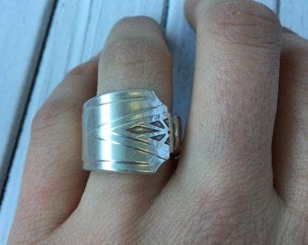 Art Deco Spoon Ring