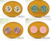 Buy 1 Get 1 Free - Wooden Retro Pattern Cabochon Button, 12mm 15mm 20mm  Round Handmade Photo Wood Cut Vintage Bird Cabs