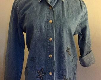 Jacket Vintage Embroidered Denim