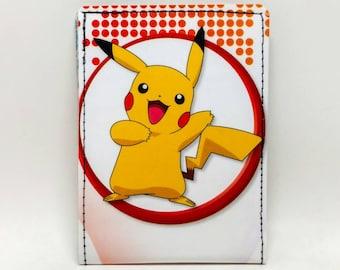 Sewn Comic Book Wallet - Pokemon Handbook Wallet - Pikachu