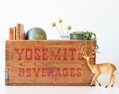 Vintage Yosemite Beverages Crate, San Francisco California, Yosemite Beverage Co