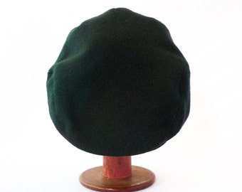 Flat Cap in Cashmere and Wool  - Newsboy, Mens Winter Hat, Womens Hat, Teal, Winter Cap, Blue Wool, Green, Gift For Boyfriend, Ready to Ship