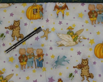 Story Time Nursery Rhymes by Robert Kaufman 100% cotton fabric