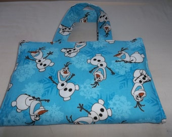 Crayon Tote Bag Caddy Activity Case Disney Frozen With Olaf