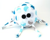 Stuffed Animal Baby Ball Toy - Paul the Octopus - ZadyCreature blue and grey spots
