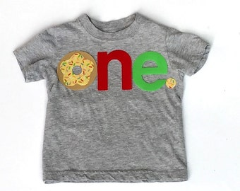 Donut Birthday Letters one, Fabric Iron On Appliques, Other Numbers Available, Two Designs To Choose From