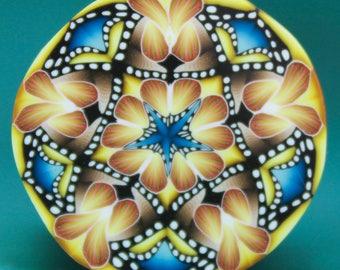MEDIUM Polymer Clay Circle Kaleidoscope Cane (45B)